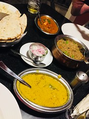 Vegetarian curry with paneer at Madurai Residency