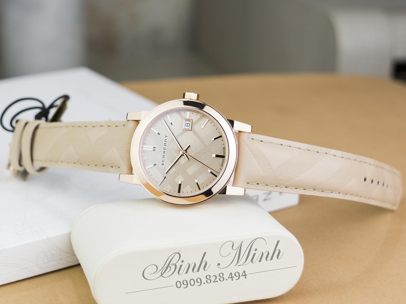 Đồng hồ Nữ Burberry The City BU9154 mạ vàng PVD, mới 100%, đủ hộp sổ, chính hãng Authentic 100%