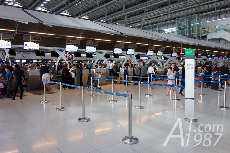 EVA Air check in counters at Suvarnabhumi Airport