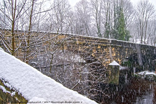 Snow at Mearclough Bridge