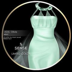 (VENDOR) -AZUL- Olivia_Mint [SENSE]