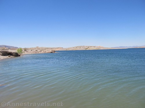 The blue waters of Lake Mead at Echo Bay, Lake Mead National Recreation Area, Nevada