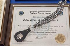 MTA Police Department's Explosive Detection Training Course Canine Graduation