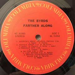 THE BYRDS:FARTHER ALONG(LABEL SIDE-B)