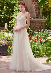 Wedding Dresses  : This tulle sheath gown features beaded lace appliqués, delicate pearls and Swar... - #WeddingDresses