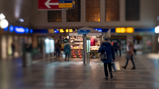 Main station hall tilted...