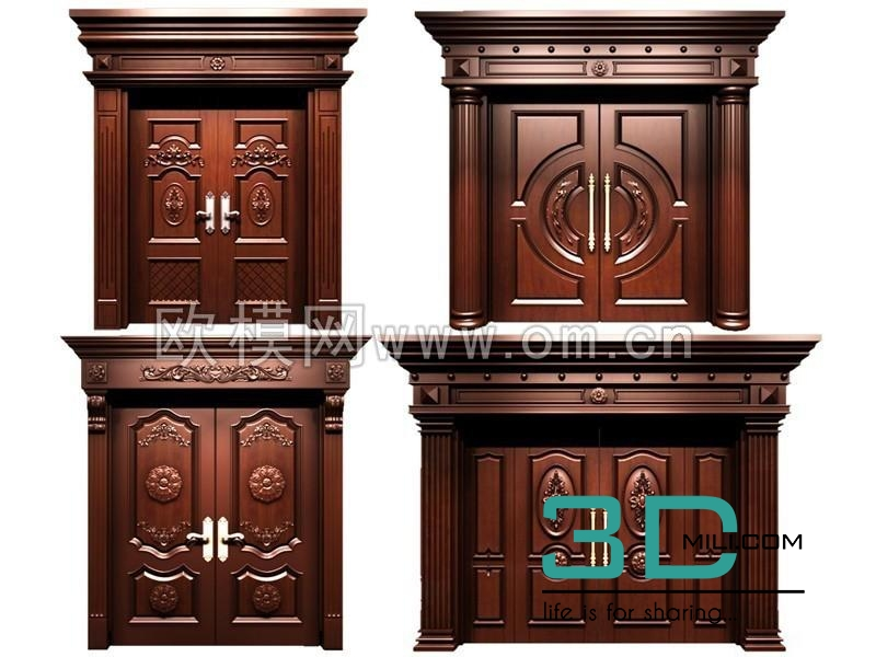 64  Door 3D model - 3D Mili - Download 3D Model - Free 3D