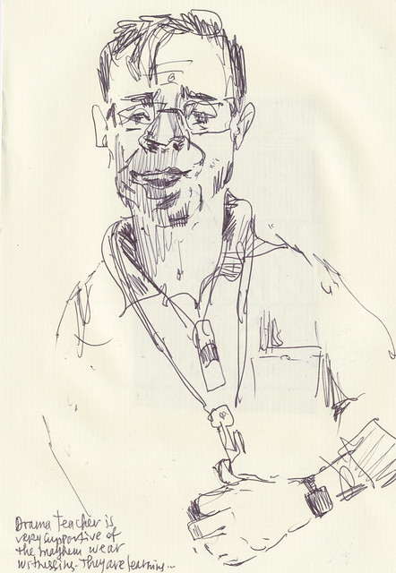 Sketchbook #111: Sketching during a school performance.