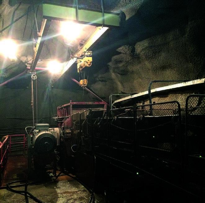 Светодиодное освещение шахты