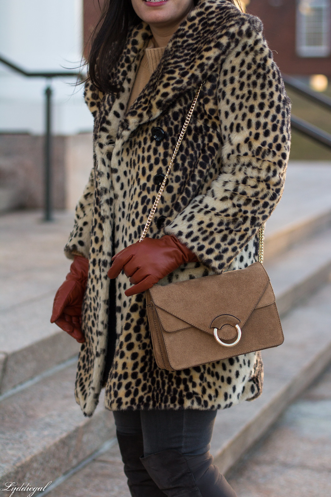 leopard fur coat, grey jeans, over the knee boots, camel sweater, winter outfit-17.jpg