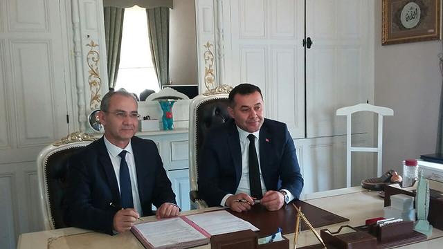 ALKÜ Rektörü Prof Dr. Ahmet Pınarbaşı, Alanya Belediye Başkanı Adem Murat Yücel
