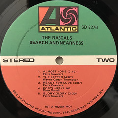 THE RASCALS:SEARCH AND NEARNESS(LABEL SIDE-B)