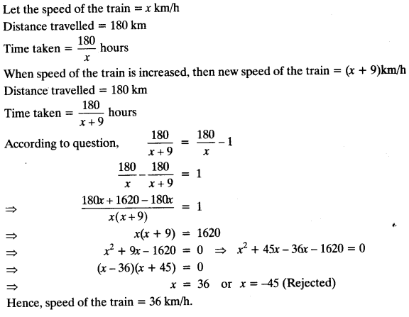 Quadratic Equations Chapter Wise Important Questions Class 10 Mathematics 135
