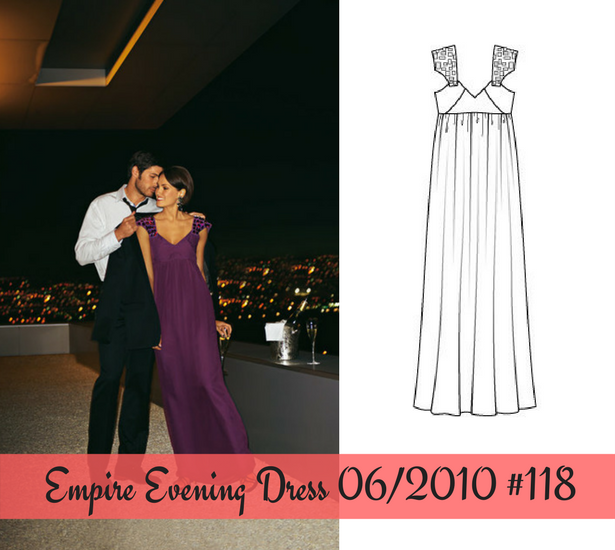 Empire evening dress