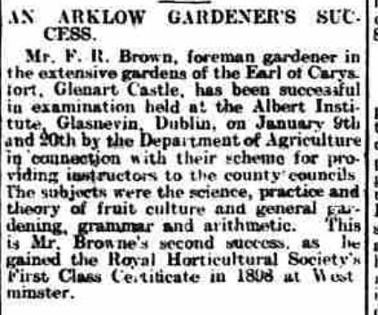 Wicklow People - Saturday 31 January 1903