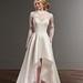 Wedding Dresses  : Illusion lace features a flirty high-low skirt | Martina Liana | Carter+Jude+Sia... - #WeddingDresses