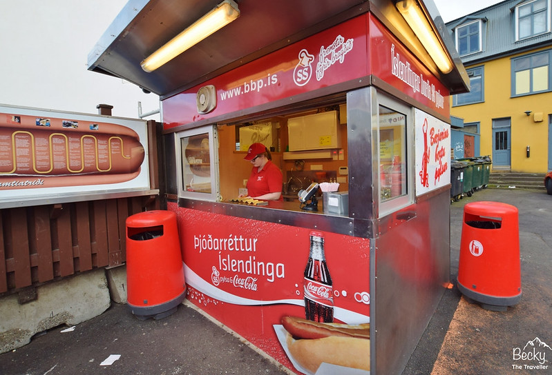 Famous Icelandic hotdog stand in Reykjavik Iceland - Things to do in Reyjavik