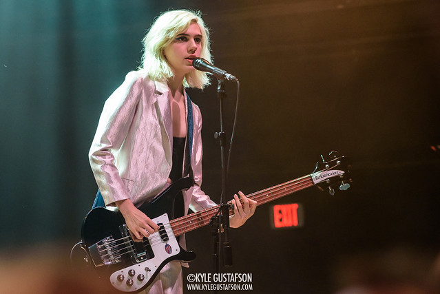 Sunflower Bean perform at the 9:30 Club in Washington, D.C.