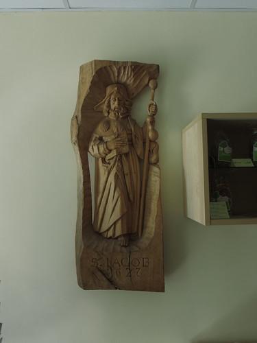 20140808 06 359 Jakobus Bernardville Baumgarten Kloster Santiago Statue