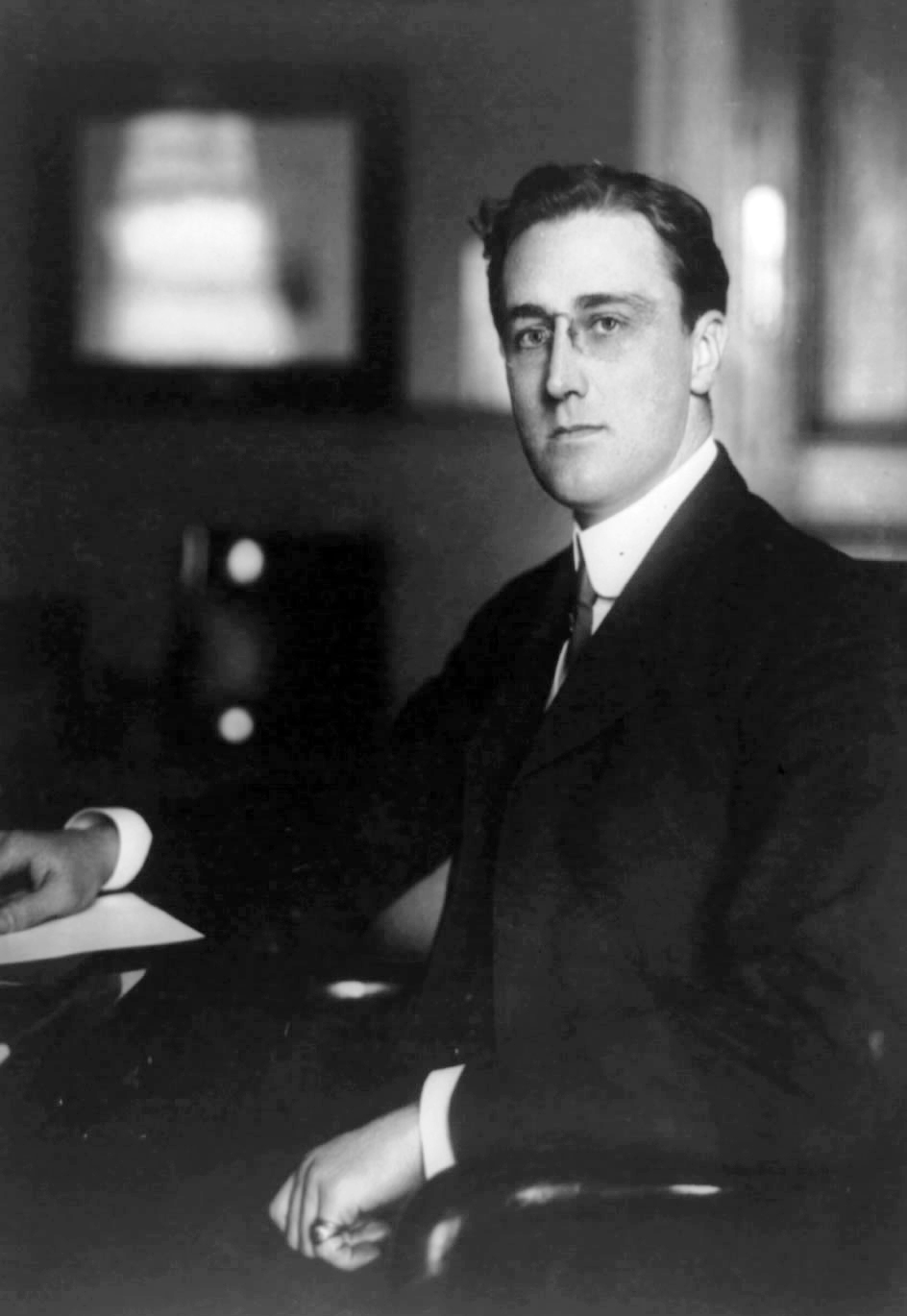 Franklin Delano Roosevelt as Assistant Secretary of the Navy, 1913.
