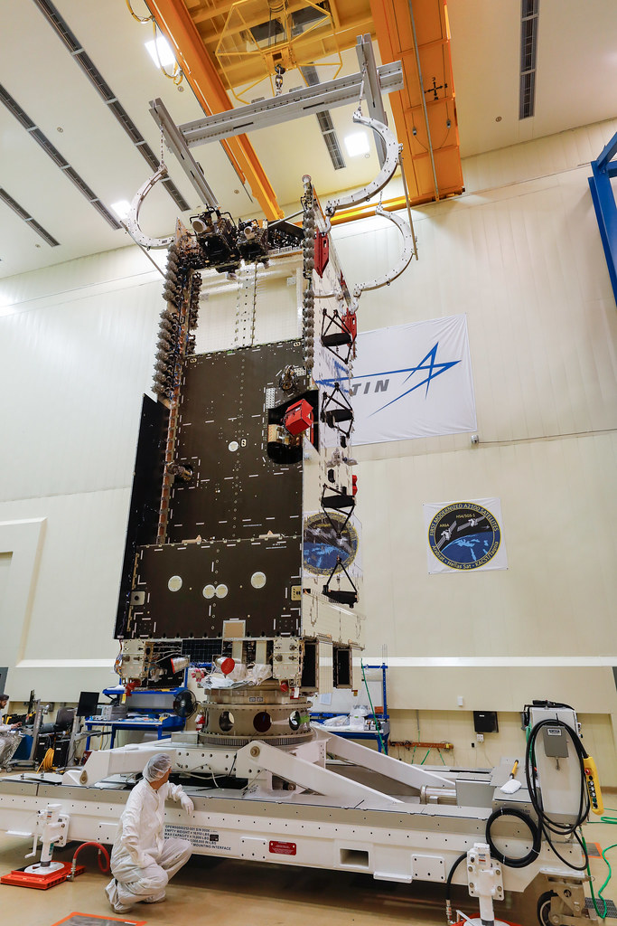 ArabSat-6A move for shipping to Sunnyvale