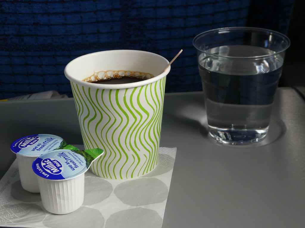 Refreshments on board Finnair flight