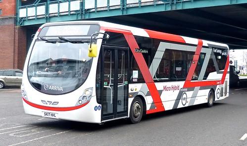 SK17 HHL  'ARRIVA Midlands' No. 9092 'Micro Hybrid technology'. Wright Streetlite D/F /1 on 'Dennis Basford's railsroadsrunways.blogspot.co.uk'