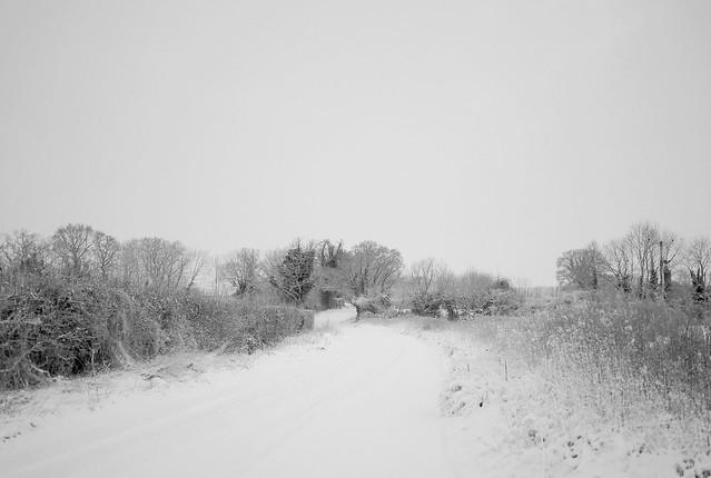 Snow lane, Panasonic DMC-GH4, Lumix G 20mm F1.7 Asph.