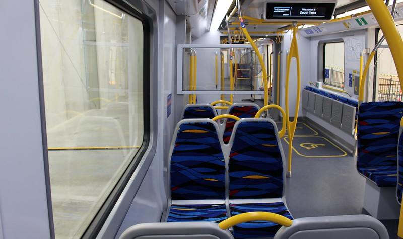 New metro train mock-up: seats