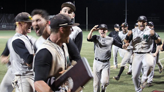 The baseball team's 2015 victory in the NCAA Division II East Regional Tournament took it to national championships for the first time.