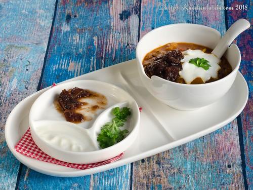 Butternut Mulligatawny - scharfe Suppe mit Birnenkürbis (2)