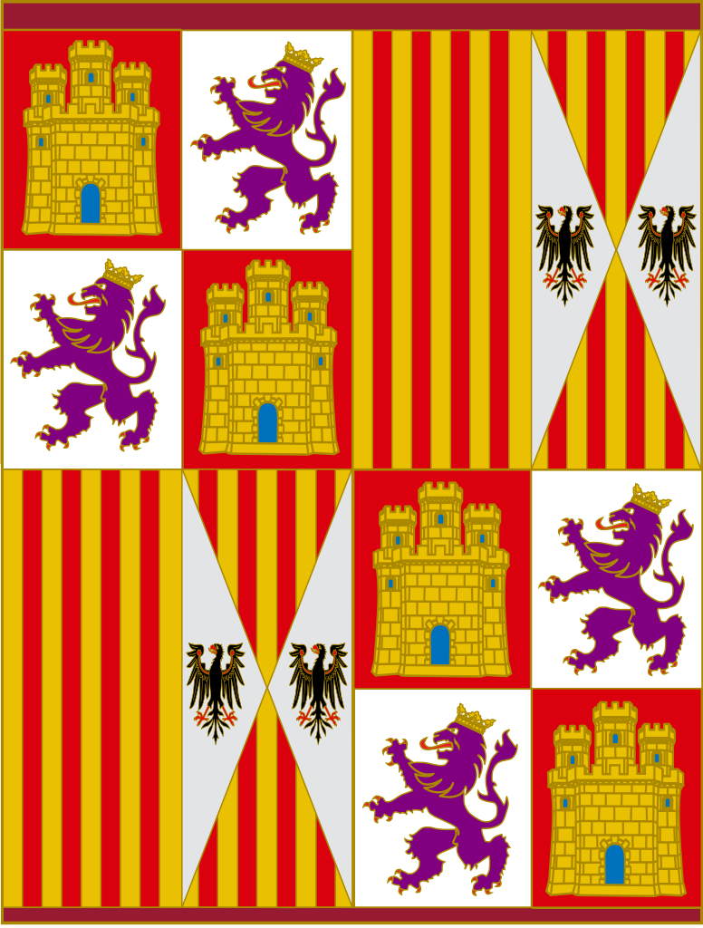 Pennant (Banner of Arms) of the Catholic Monarchs (Spain) from 1475 to 1492