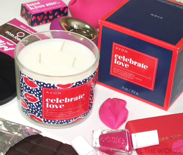 avon celebrate love candle