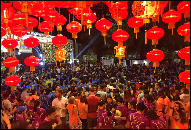 Phuket Town Night Run Crowd