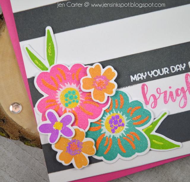 Jen Carter Winnie Walter Victoria's Very Merry Flowers Rugby Stripes Closeup
