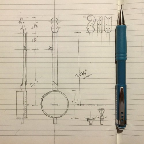 Making full-size banjo plans