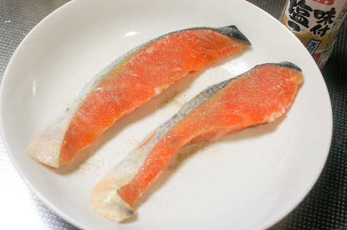 サケのホイル焼き