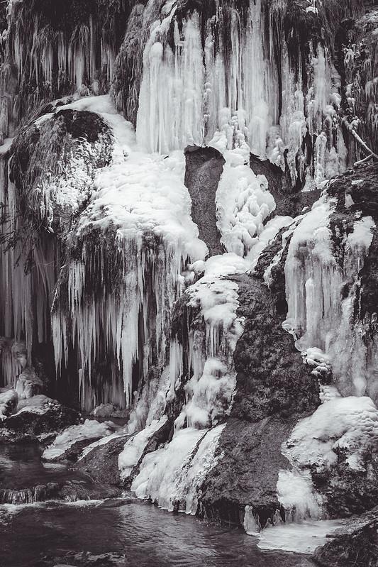 Cascades des tufs - Baume les Messieurs - Jura - France - Février 2018