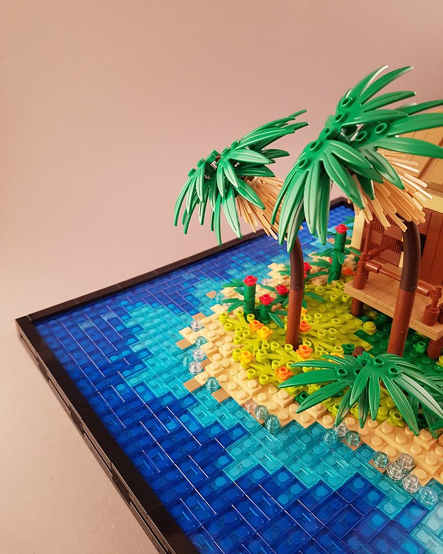 Tropical Holiday Bungalow MOC palm tree corner
