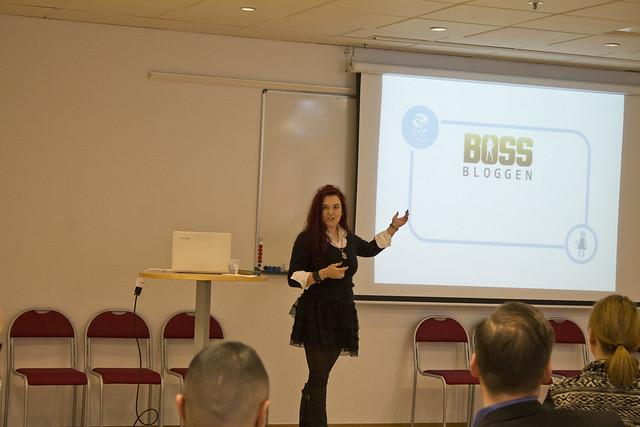 Clara Löfvenhamn föreläser om att bli sin egen bästa boss