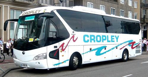 4506 UB 'Cropley Coaches' of Boston, Lincs. Yutong TC12 on 'Dennis Basford's railsroadsrunways.blogspot.co.uk'