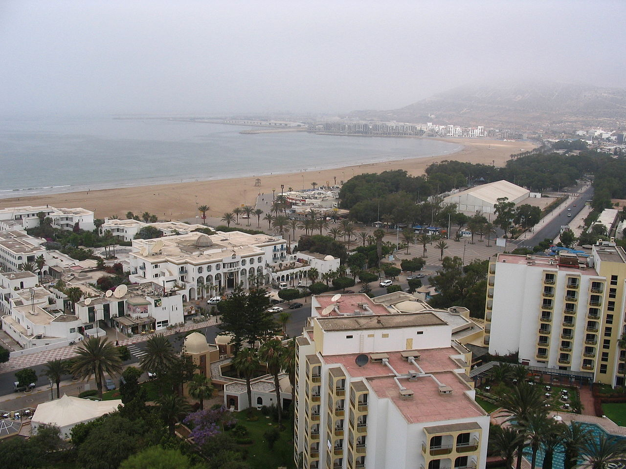 View of Agadir in March 2005.