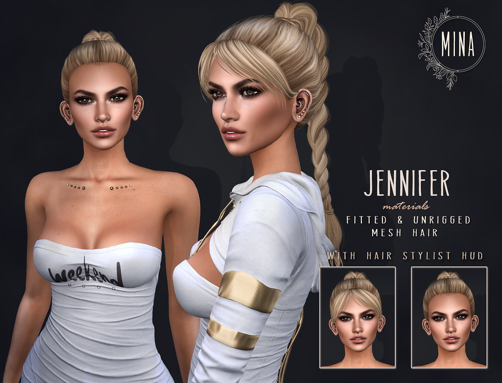 MINA Hair - Jennifer for The Clique - TeleportHub.com Live!