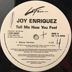 JOY ENRIQUEZ:TELL ME HOW YOU FEEL(LABEL SIDE-A)
