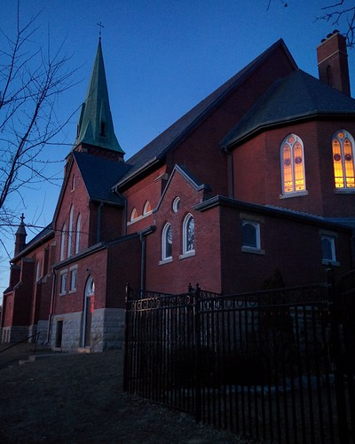 St. Cecilia from the back at twilight #toronto #stcecilia #annettestreet #churches #shrine #highparknorth #pacificave #pacificavenue #latergram