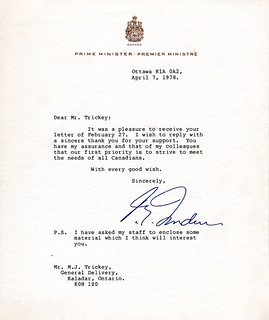 A Letter from Prime Minister Trudeau