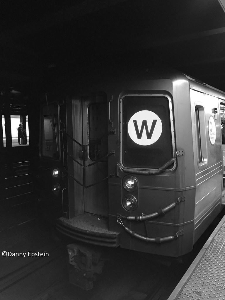 R-68a (W) train at 23 street