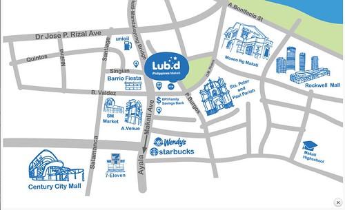 Lub-D-Makati Hostel Location Map