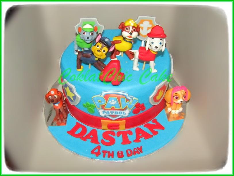 Cake Paw Patrol DASTAN 18 cm