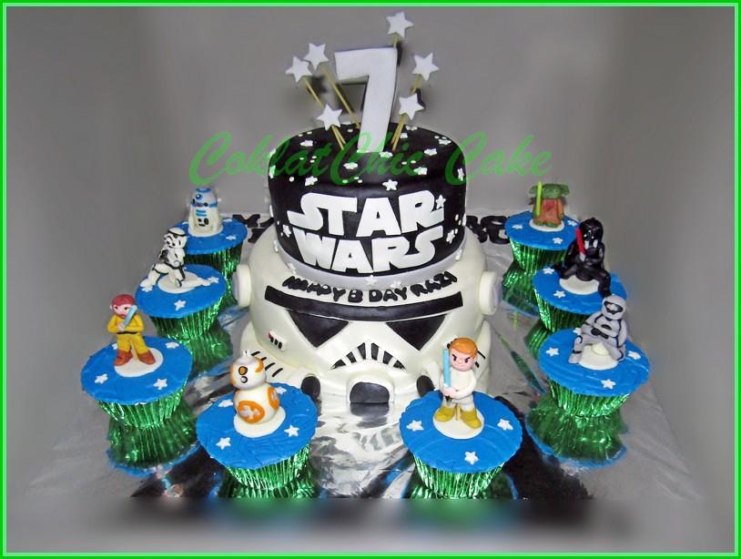 Cake dan Cupcake StarWars RAZI 18 cm dan 15 cm